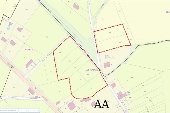ZA Les Plaines - St Pardoux délimitation zone