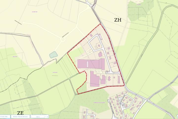 ZI St Georges de Mons délimitation zone