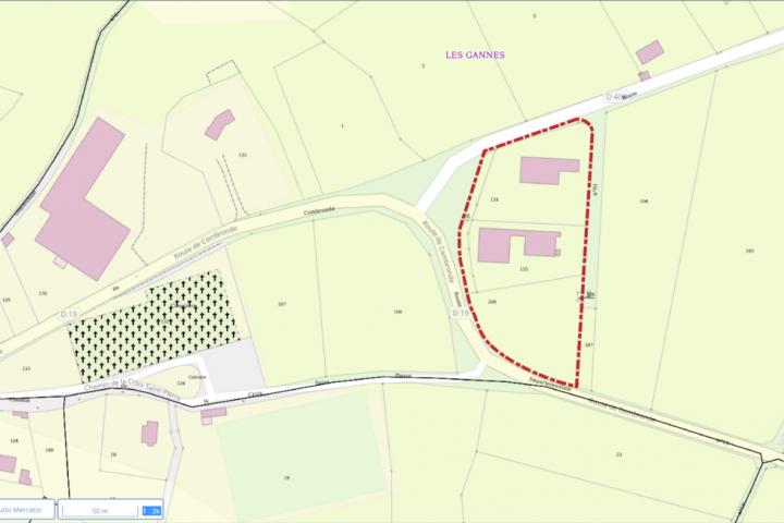 Zone des Gannes - Charbonnières-les-Vieilles délimitation zone