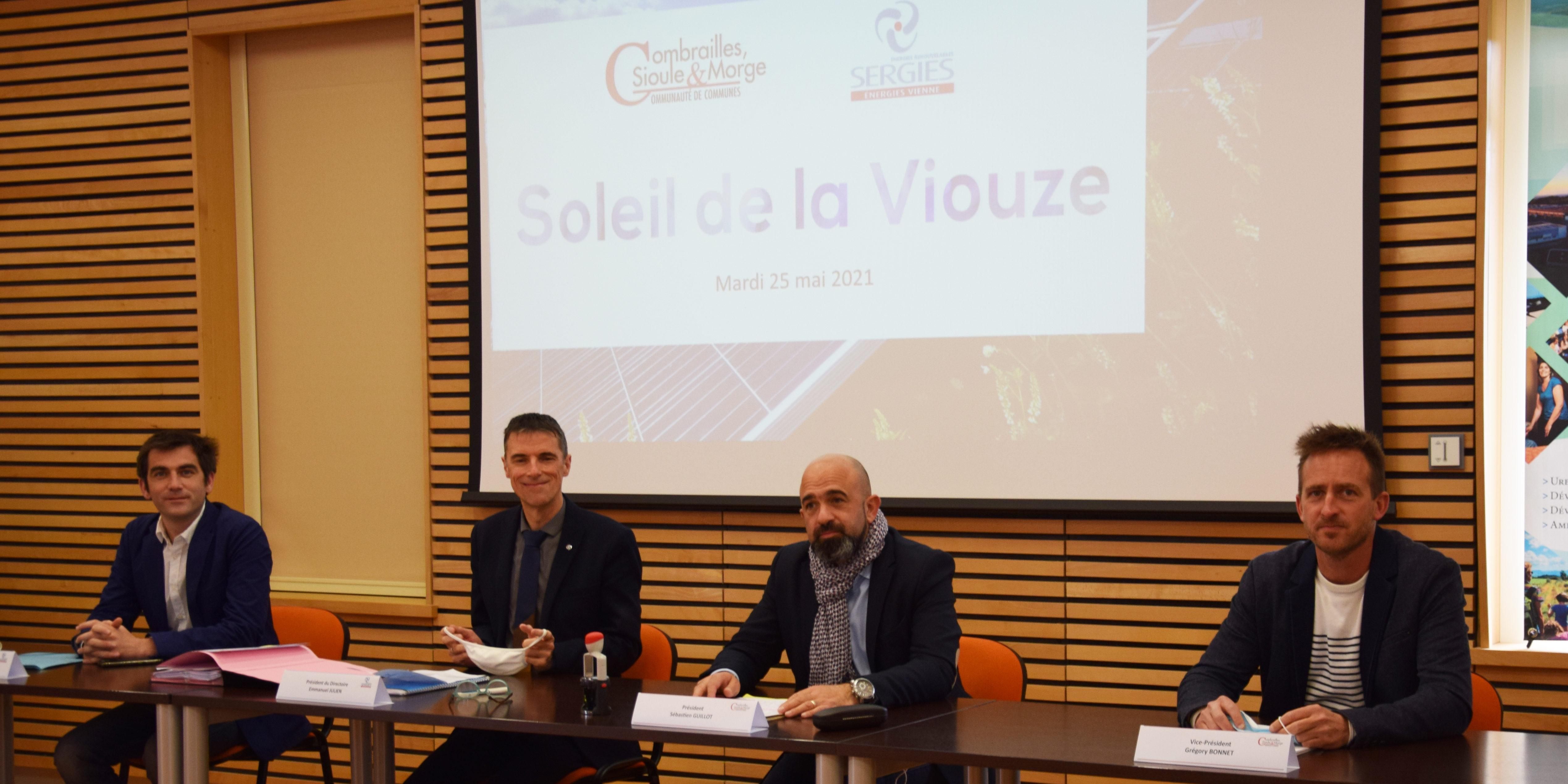 """Combrailles, Sioule et Morge, coactionnaire de la société de projet """"Soleil de la Viouze"""""""